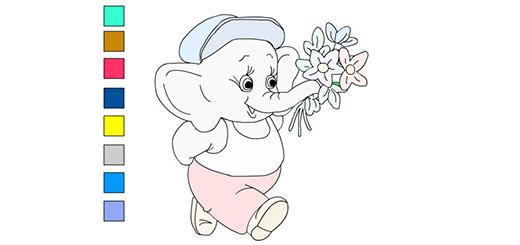 раскраска-слоник