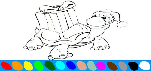 раскраска-черепаха