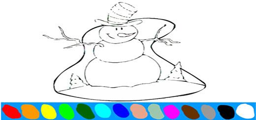 раскраска-снеговик