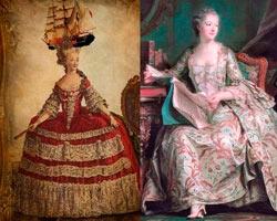 женская мода 17 века