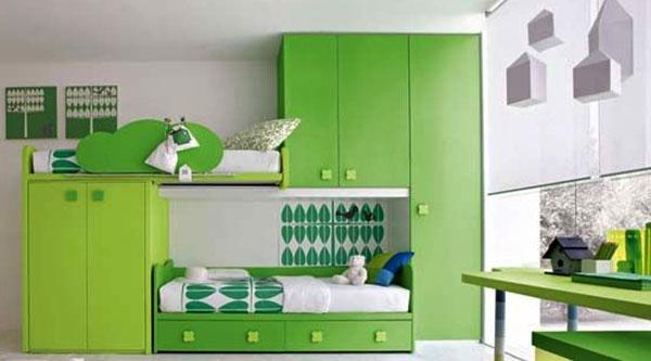 Детская-комната-зеленая