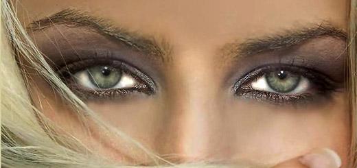 макияж-зеленые