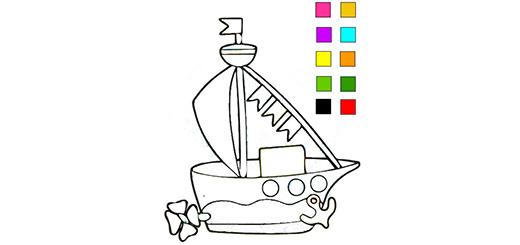 раскраска-кораблик