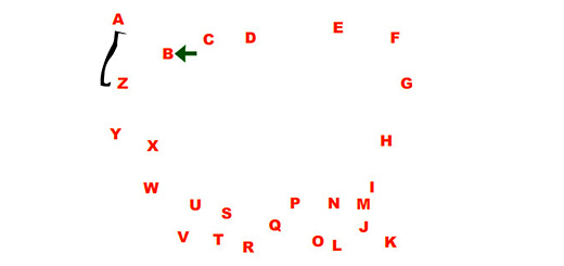 Соединяем буквы по точкам