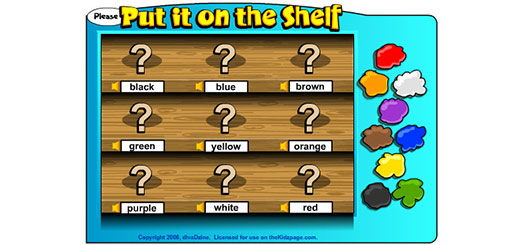 игра учим цвета на английском 2