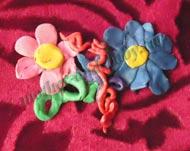 Цветы. пластилин