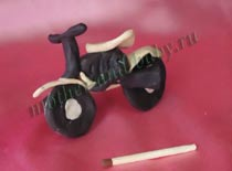 Мотоцикл. пластилин