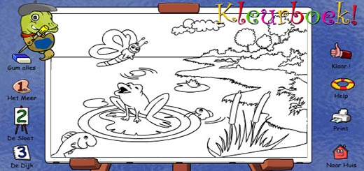 раскраска-лягушка