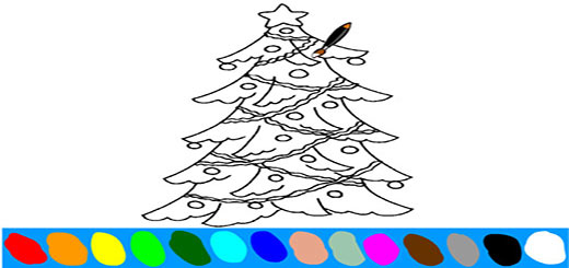 раскраска-елка1