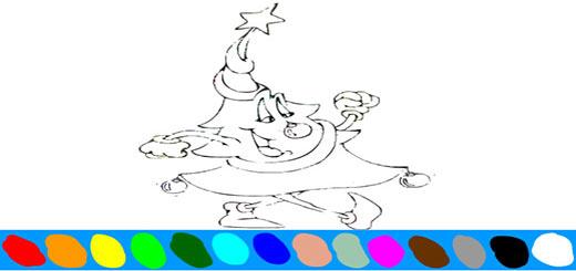 раскраска-елка2