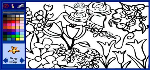 раскраска-цветы