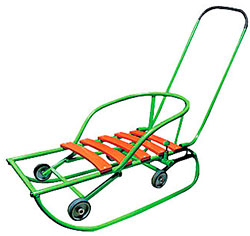 санки для детей с колесами