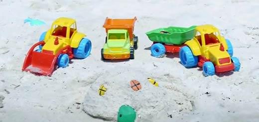 Машины строят песочный замок