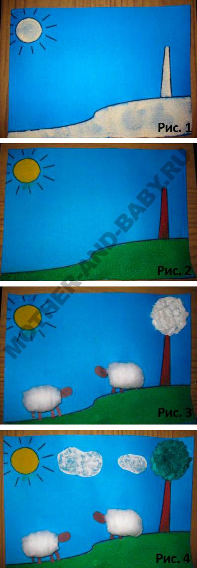 аппликация-для-детей-овечки2